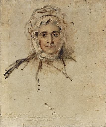 Portrait of Lucy Lawrence, the artist's mother, unfinished