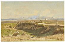 Jean-Achille Benouville (Paris 1815-1891) - Roman Landscape