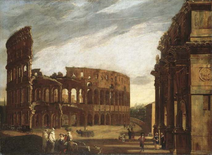 Viviano Codazzi (Bergamo c. 1604-1670 Rome) and Michelangelo Cerquozzi (Rome 1602-1660)