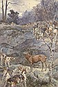 A stag at bay, Paul Tavernier, Click for value