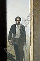Man with a Shadow Figure, Stephen Conroy, Click for value
