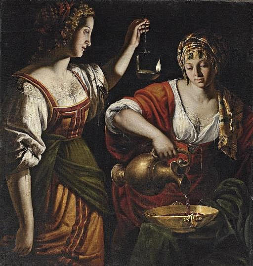 Artemesia mixing the ashes of Mausalos with wine
