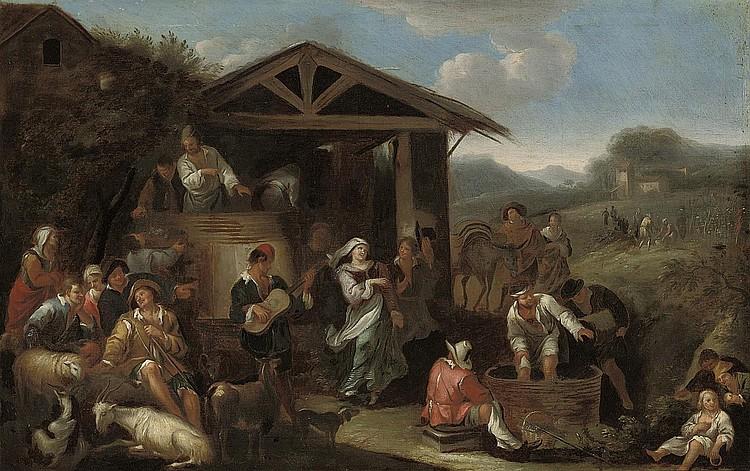 Attributed to Dirck Helmbreker (Haarlem 1633-1696 Rome)