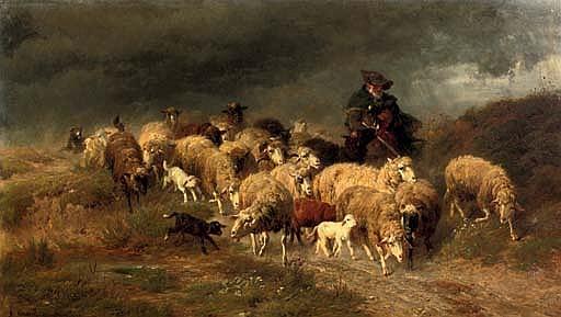 Heimkehr im Sturm: herding the flock