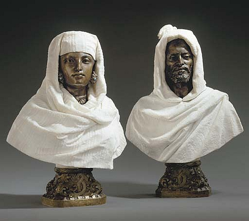 Busts of a Sheikh and a Sheikhah