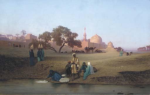 A Village along the Nile near Cairo