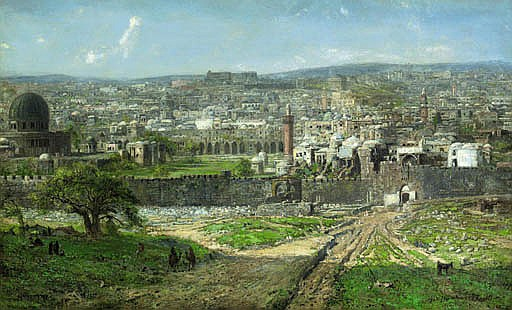 A View of Jerusalem, seen from the East, with the Temple Mount and the Lion's Gate