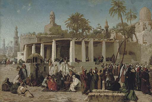 Crowds Gathering before the Tombs of the Caliphs, Cairo