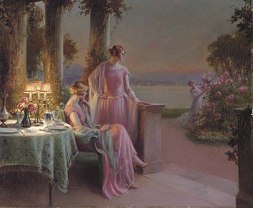 Elegant Ladies taking Tea