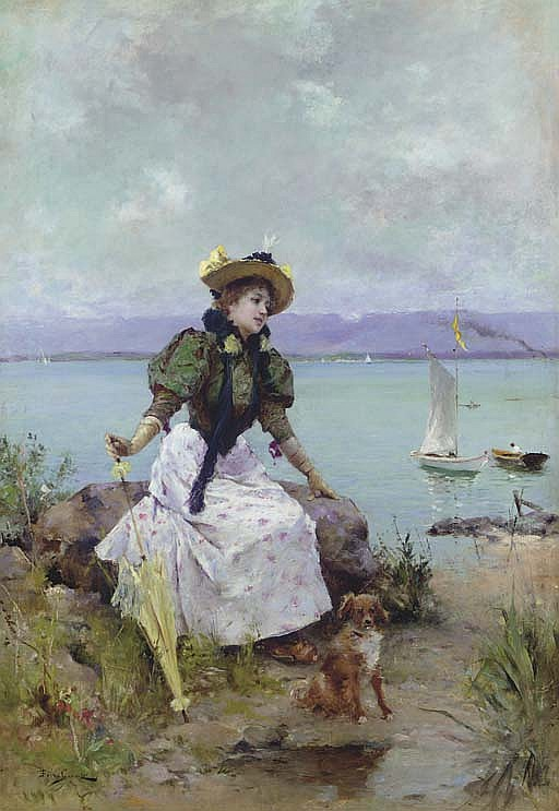 A Young Girl with a Parasol