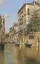 A Canal in Venice, Martin Rico y Ortega, Click for value