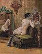 Femme au Boudoir, Georges Croegaert, Click for value