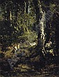 Goats Grazing in a Forest Landscape, Giuseppe Palizzi, Click for value