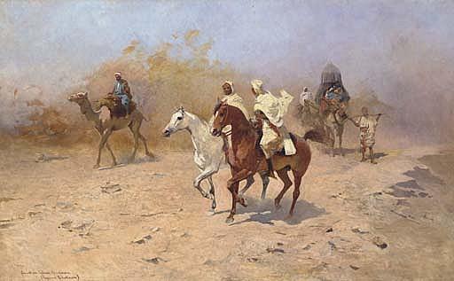 An Arab Caravan in the Desert