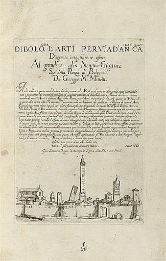 MITELLI, Giuseppe Maria (1634-1718).  L'arti per via disegnate, intagliate, et offerte... da Gioseppe M a: Mittelli . [Bologna: 1660].