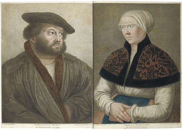 HOLBEIN, Hans, the younger (1497-1543, artist) and Edmund LODGE. Imitations of Original Drawings by Hans Holbein in the Collection of His Majesty, for the Portraits of Illustrious Persons of the Court of Henry VIII. With Biographical Tracts .