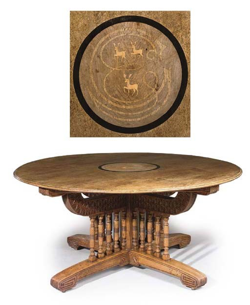THE EDWARD GREEN OAK CIRCULAR TABLE