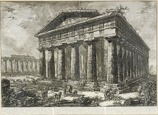 Différentes Vues de quelques Restes de trois Grands Edifices...de l'ancienne Ville de Pesto (F. 583-4, 586, 589-90, 592, 594; W.-E. 718-9, 721, 724-5, 727, 729)