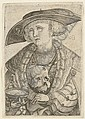 Self-Portrait of the Artist (B. 95; Holl. 241; A. 143), Jakob Binck, Click for value