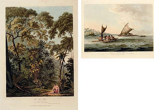 WEBBER, James [but John] (ca 1750-1793). [COOK'S THIRD VOYAGE] -- Views in the South Seas, from drawings by the late James Webber, draftsman on board the Resolution, Captain James Cooke, from the year 1776 to 1780. London: W. Bulmer and Co. for