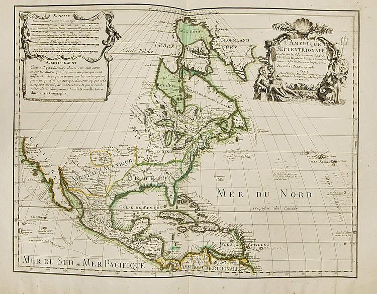 JAILLOT, Hubert (1632-1712). Atlas françois contenant les cartes géographiques dans lesquelles sont très exactement remarquez les empires, les monarchies, royaumes et estats de l'Europe, de l'Asie, de l'Afrique et de l'Amérique. Paris: chez