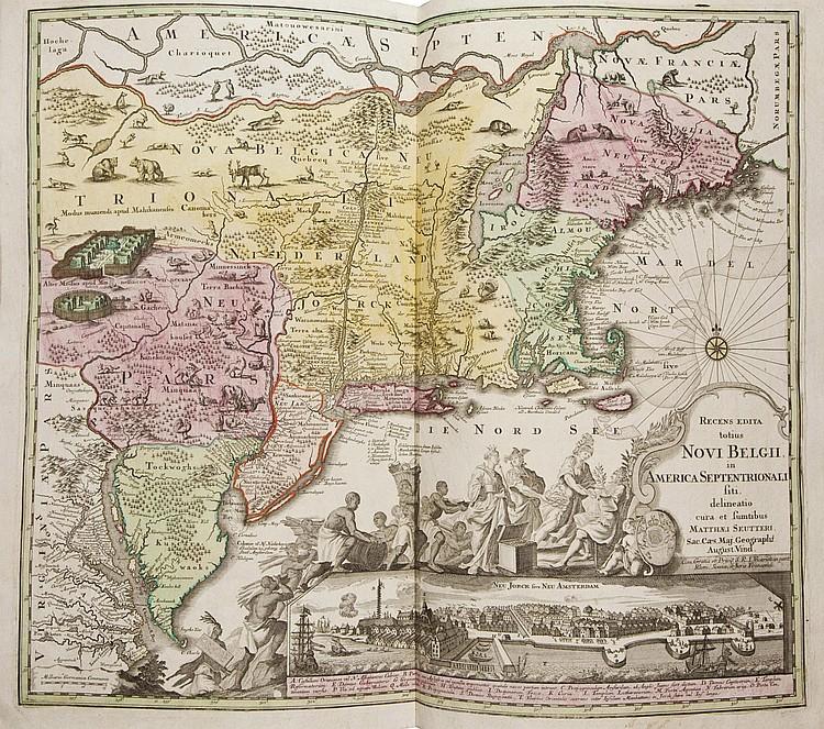 HOMANN, Johann Baptist (1663-1724).  Atlas universalis . Titre au pochoir, daté 1760 suivi de: - Grosser Atlas über die gantze Welt.  Nuremberg: Homann, 1737.