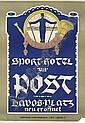 SPORT-HOTEL ZUR POST, DAVOS, Walter (1875) Koch, Click for value