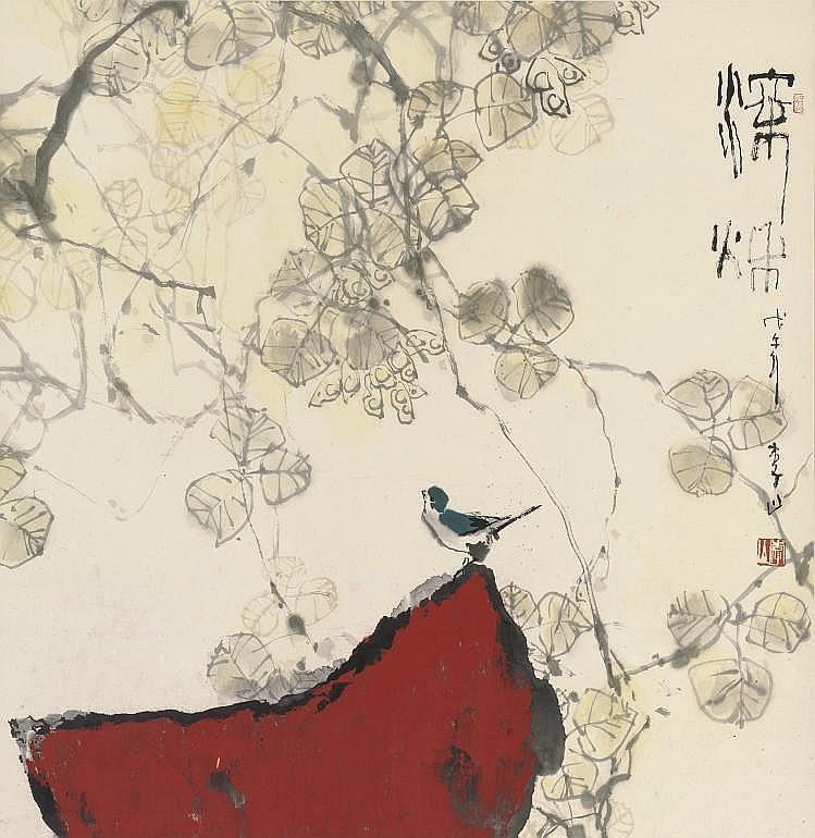 LI SHAN (B.1926), A HANGING SCROLL