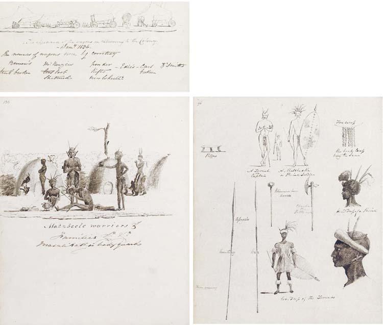 BURROW, John (1816-1873?). Autograph manuscript entitled 'A rough Sketch of a Journey through