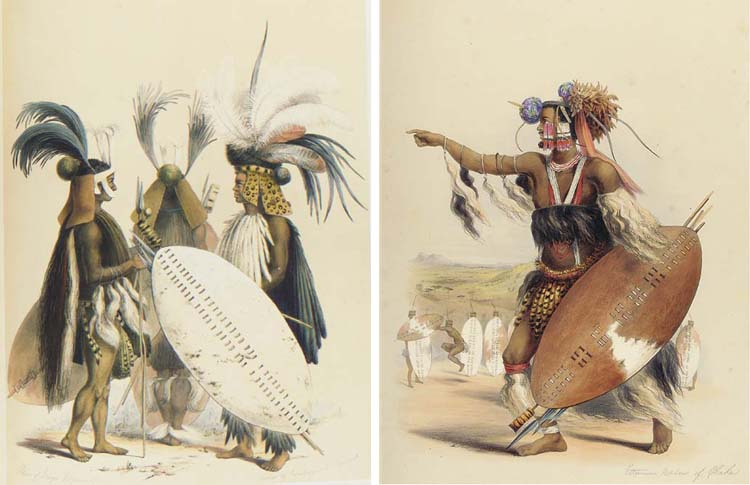 ANGAS, George Fife (1822-1886). <I>The Kaffirs Illustrated in a series of drawings taken among</I>