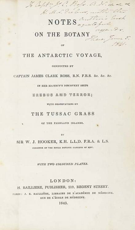 ROSS, James Clark (1800-1862). <I>A Voyage of Discovery and Research in the Southern and</I>