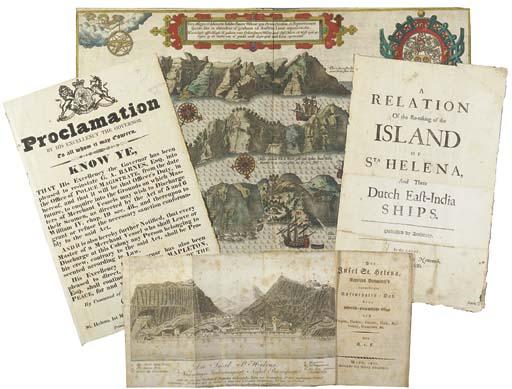 ST HELENA - SAINSON, Louis Auguste de (1801-1887). 'Sommet de Green Mountain (Ascension)' and