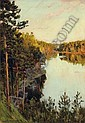 Lake in the forest, Isaak Il'ich Levitan, Click for value