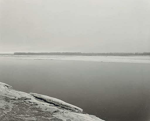 Concrete and Ice, Missouri River, Clay County, South Dakota, 1977