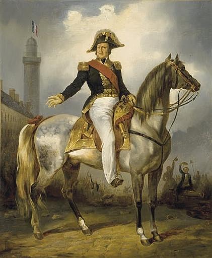 Louis-Philippe devant la colonne Vendôme en 1830