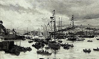 Charles William Wyllie, R.O.I. (London 1859-1923)