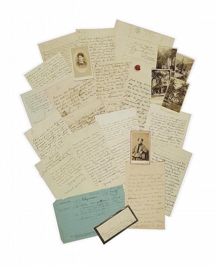SAND, George (1804-1876). 26 lettres autographes signées