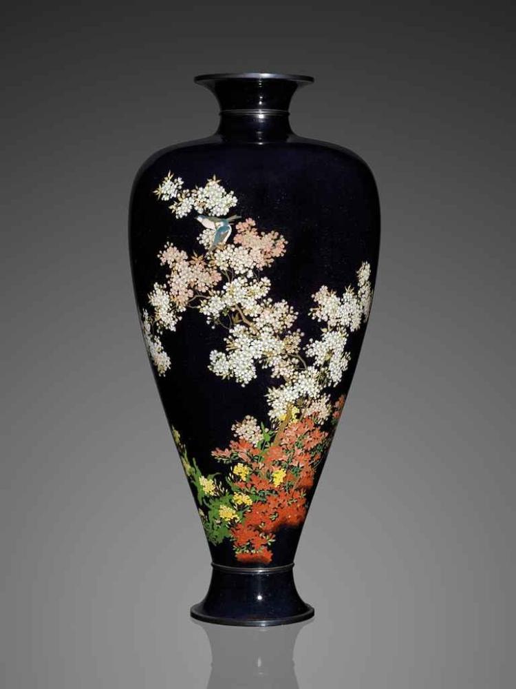 A Fine and Impressive Cloisonné Enamel Vase