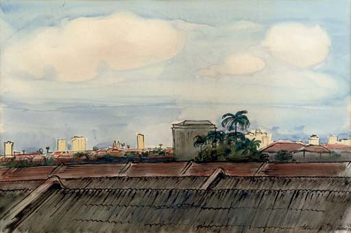 A panoramic view of Santos