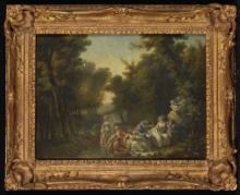 JACQUES-PHILIPPE CARESME (PARIS 1734-1796) - Le déjeuner sur l'herbe
