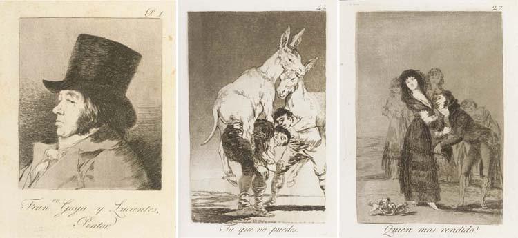 GOYA Y LUCIENTES, Francisco José de. [<I>Los Caprichos.</I> Madrid: par l'auteur, 1799.]