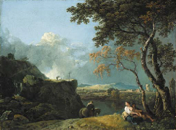 RICHARD WILSON, R.A. (Penegoes 1713-1782 Colommendy)