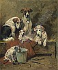Hounds and Terriers in a Stable, John Emms, Click for value