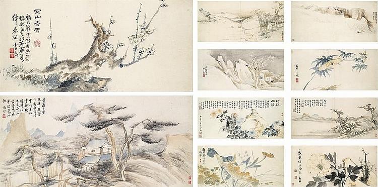 Landscape and floral album (album of 10)