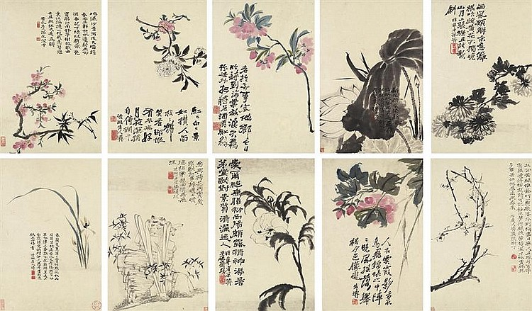 Floral album (album of 10)