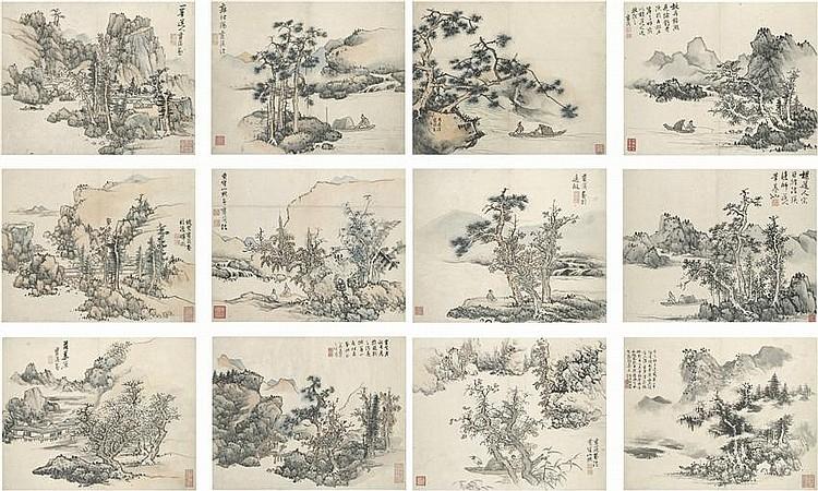Landscapes after Old Master (album w/ 12 leaves)