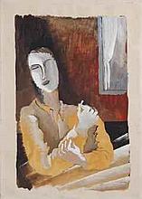 Ossip Zadkine (1890-1967) Fumeur au fenêtre