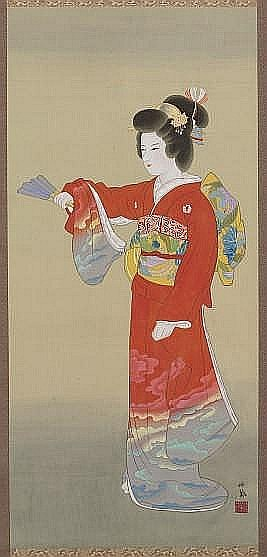 A JAPANESE HANGING SCROLL BY TAKEUCHI SEIHO (1864-1942),