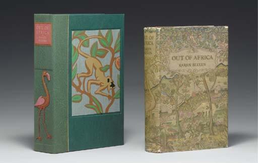 BLIXEN, Karen (1885-1962). Out of Africa. London: Putnam, 1937.