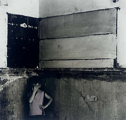 Untitled, (Flag - derelict interior with Christopher), 1960